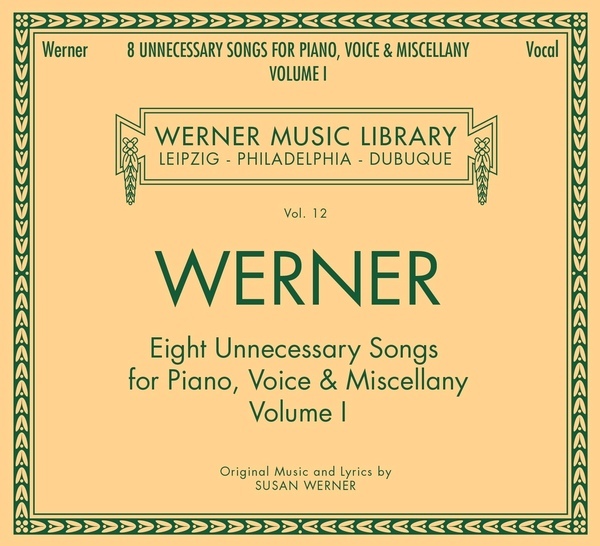 album cover for 8 Unnecessary Songs and an odd little hymn by Susan Werner