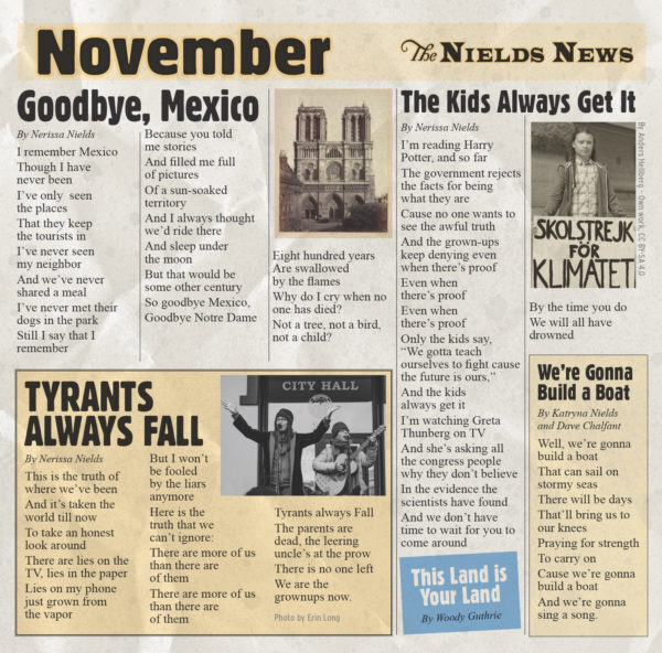 Album cover November by the Nields